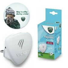 Vicks Plug In Vapour Diffuser & Nightlight Cough Cold Relief Free Scented Pads