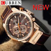 Curren Men's Watch Sports Military Chronograph Date Quartz Wristwatch