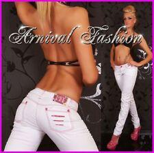 Cotton Straight Leg Machine Washable Jeans for Women