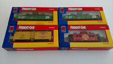 Life-Like HO Scale 4 Rail Cars Bundle Burlington Northern Santa Fe American Refr