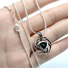 2018 Celtic knot Essential Oil Diffuser Locket Pendant Necklace with Lava Beads