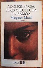 Adolescencia, Sexo y Cultura en Samoa by Margaret Mead (paperback in Spanish)