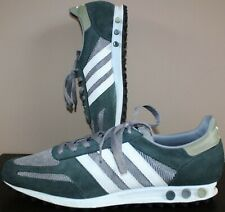 Adidas LA 2016 OG Trainers - UK Size 12 - Suede Dark Green & Silver - Mens Shoes