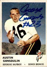 Goose Gonsoulin Signed 1961 Fleer #152 Rookie Autographed Broncos 57621