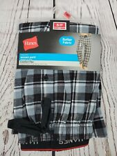 HANES New Mens Pajama Woven Sleep Pants Plaid Comfort Flex Tagless Small