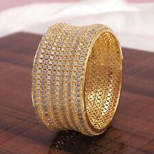 Indian Women Wedding American Diamond Bangle Bracelet 1 PC Kada Fashion Jewelry