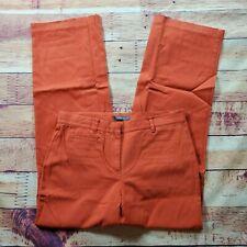 Liz Claiborne Tabitha Trousers Dress Pants Womens Size 8 Red Orange Stretch