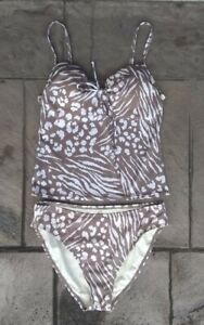 Victoria's Secret Two Piece Swimsuit Tankini Top Bikini Bottom Medium 32A