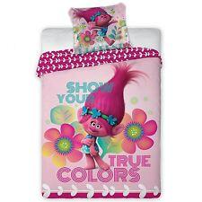 Troll 100% Cotone Set Copripiumino Nuovo Reversibile Poppy