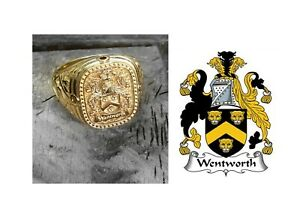 Custom Family Crest Ring Coat Of Arms Gold Ring Personalized Signet Ring Man