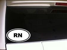 "RN Nurse car decal vinyl window sticker 6"" *E3* scrubs hospital doctor school"