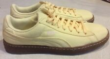 PUMA BASKET Ribstop IC MEN'S Size 7.5 Mellow Yellow/White Swan Casual Shoes NEW