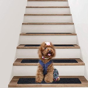 Waterproof Stair Treads Non Anti Slip Tape Carpet Strips Pads for Steps 15 Pack