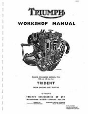 Triumph workshop manual 1969, 1970, 1971, 1972 & 1973 Trident T150 & T150V