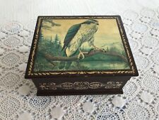 Vintage Italian Anri Jewelry Box Music Box Beautiful Bird Sun Rise Sun Set