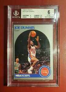 1990-91 NBA 🏀 HOOPS JOE DUMARS BECKETT GRADED CARD 6 EX MT for the PISTONS..