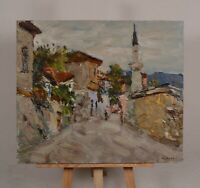 Original oil painting, cityscape of Bakhchisaray street