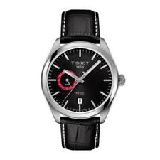 Tissot 100 Dual Time T-Classic Black Leather Strap Men Watch T101.452.16.051.00