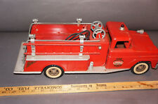 1960's Vintage Tonka Fire Truck Pumper No.5 Metal Toy Truck Original Decals