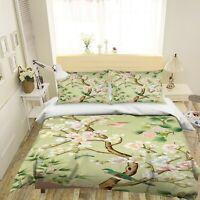3D Plum Blossom Bird ZHUA2000 Bed Pillowcases Quilt Duvet Cover Set Queen King
