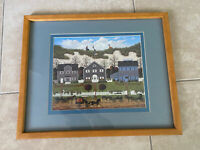 Vintage Charles Wysocki Print Nantucket Winds Framed Matted