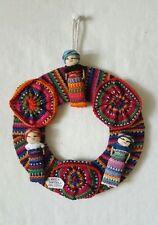 Handmade Guatemalan Worry Doll Dream Catcher Worry Doll Hanger Ethnic Crafts