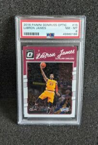2016 Donruss Optic LeBron James w/ Kobe Bryant #15 PSA 8 NM-MT
