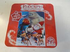 Rudolph Red Nose Reindeer 550 Piece Jigsaw Puzzle Tin Box USApoly Christmas