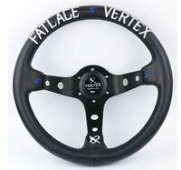 325mm Fat Lace Leather Deep Dish Steering Wheel Vertex Style Drift Universal