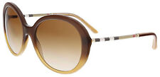 Burberry BE4239Q 336913 Brown Gradient Round Sunglasses