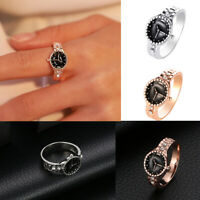 Womens Girls Watch Rings Silver Plated Ring Band Jewellery Gifts Unisex 6-10 NEW