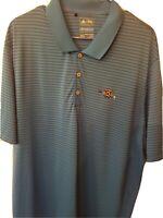 Adidas Climacool Men's Golf Polo Shirt blue Polyester Size 2 Xl.