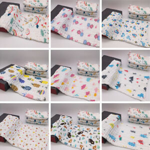 washcloth towel for baby 12x20 in gauze cotton hand/face towel active printing