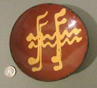 "1985 TURTLE CREEK Redware SHOONER Folk Art Pottery ""MUSEUM PIECE"" Slip Plate 6+"""