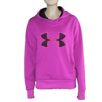 Under Armour Women's Small Hoodie Purple Pink Semi-fitted Cold Gear