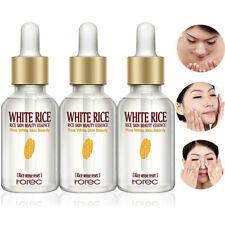 3 Pcs White Rice Serum Face Whitening Moisturizing Essence Anti Aging Wrinkles