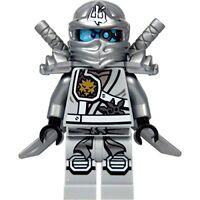 LEGO Ninjago : Zane minifigure Titanium (Silver Ninja) with shoulder armor and t