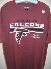 ATLANTA FALCONS UNISEX ADULT DOUBLE-XL ( 2XL ) RED TEE-SHIRT IN DISTRESSED PRINT