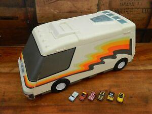 Micro Machines Super Van City Playset with 6 Cars 1991 Galoob