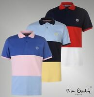 Mens Pierre Cardin Cotton Top Large Block Polo Shirt Sizes from S to XXL