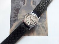VERY RARE HELVETIA MINI CHRONOMETER VINTAGE MILITARY WRIST WATCH WW II WW2 1930S