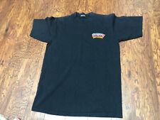 Vintage NBA San Antonio Spurs 90s Black T Shirt Embroidered Logo Sz Large