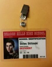 Teen Wolf Id Badge -Beacon Hills High Stiles Stilinski prop cosplay costume