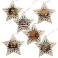 150 Glittered Star Christmas Gift Tags with Victorian Images XT0004