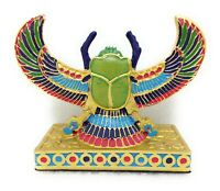 Egyptian Winged SCARAB FIGURINE Colorful New 13589