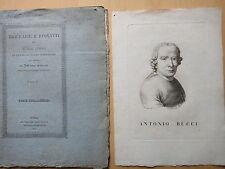 1837-BIOGRAFIA DI ANTONIO BUCCI-RITRATTO-FAENZA