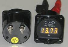 Topo LED Panel Volt meter PMLED 9-20v,4WD,Aircraft,Boat