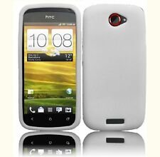For T Mobile HTC ONE S  Rubber Silicone Gel SKIN Phone Case Cover White