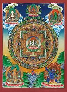 The Great Compassionate One BIG Tibetan Art Mandala Asian Art Print Buddha