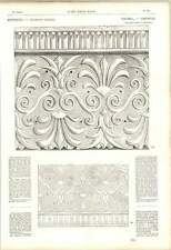 1863 Greek Palmette Lydia Iona Frieze Double Voluted Roll Twistings Artwork